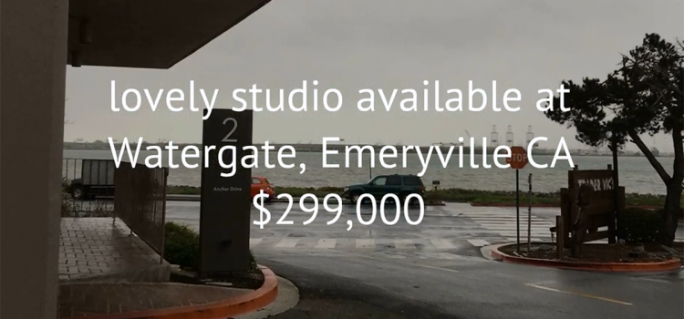 Studio available at Watergate, Emeryville CA $299,000